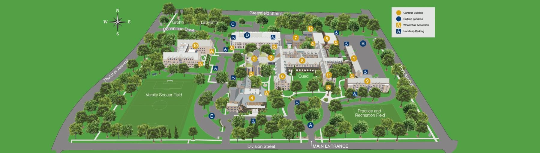 Dominican University Map Directions and Campus Map | Dominican University